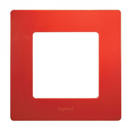 LEGRAND - Единична рамка NILOE 665021 Червен