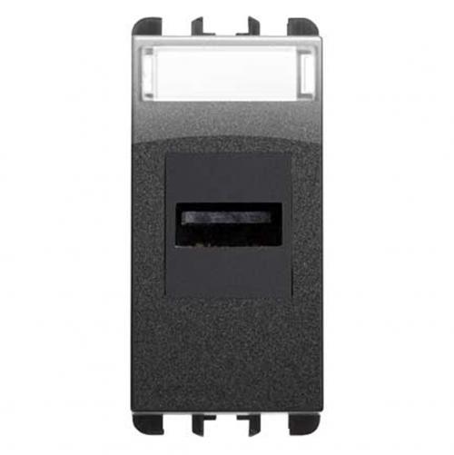 SIMON URMET - 10451.AC USB socket connector, 1 mod. dark iron