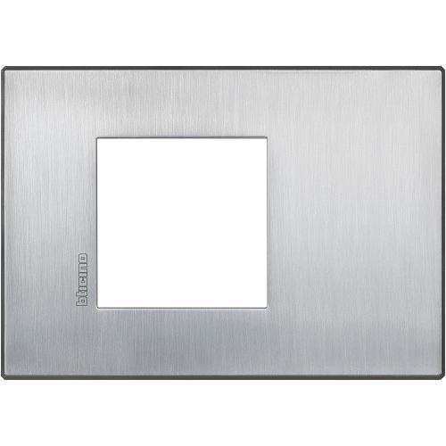 BTICINO - HW4819CRS Рамка 2М драскан хром Axolute Air