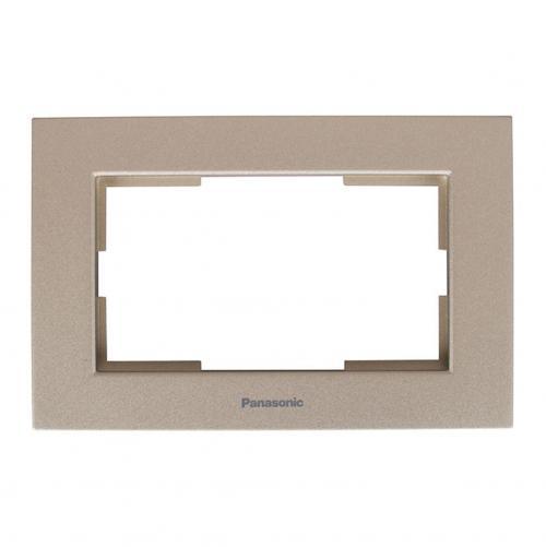 PANASONIC - Рамка за двоен контакт бронз Panasonic Karre WKTF08092BR‐EU1
