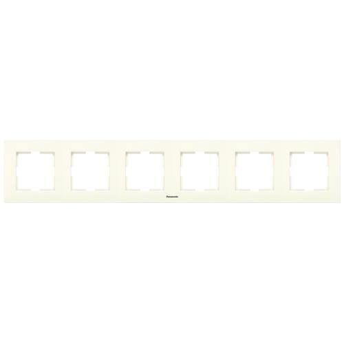 PANASONIC - Шестица рамка хоризонтална крем Panasonic Kare WKTF08062BG‐EU1