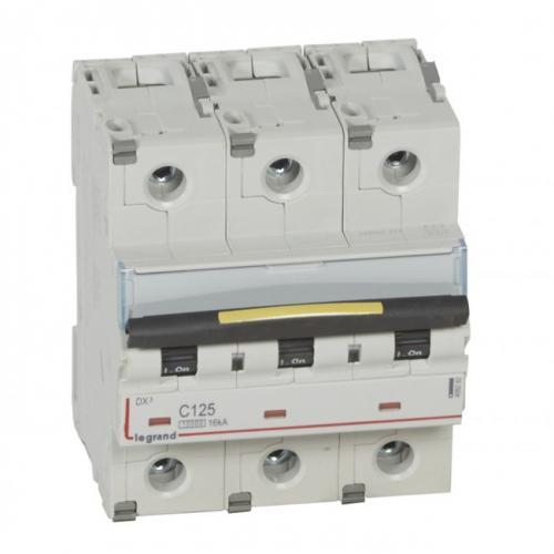 LEGRAND - Автоматичен прекъсвач DX3 3P 125A крива С 10kA 4,5 мод 409282