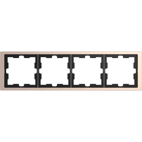 SCHNEIDER ELECTRIC - MTN4040-6551 рамка четворна метална шампанско D-Life Merten