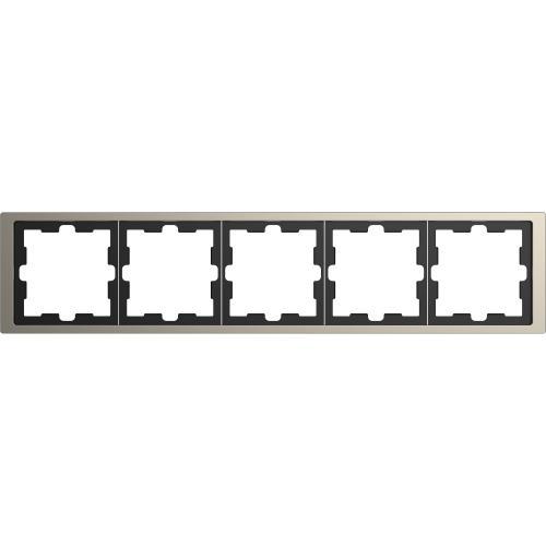 SCHNEIDER ELECTRIC - MTN4050-6550 рамка петорна метална никел D-Life Merten