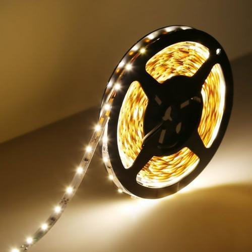 ULTRALUX - LSNW352860WW LED ЛЕНТА SMD3528, 4.8W/M ТОПЛО БЯЛА, 12V DC, 60 LEDS/M, 5M, НЕВОДОУСТОЙЧИВА