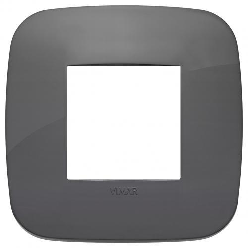 VIMAR - 19672.82 - Двумодулна рамка Round технополимер grey