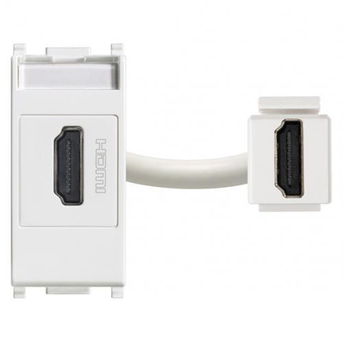 VIMAR - 14346 - Plana HDMI розетка бялa
