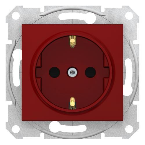 SCHNEIDER ELECTRIC - SDN3000341 Контакт с детска защита Sedna, 16А, червен