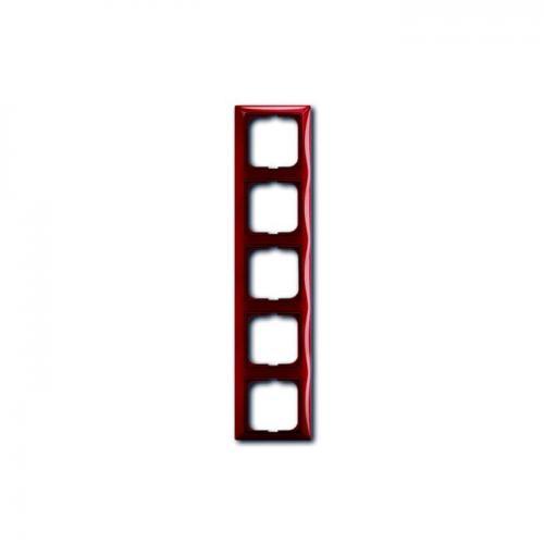 ABB - 2CKA001725A1520 Рамка петорна ABB Basic55 Керемидено червена