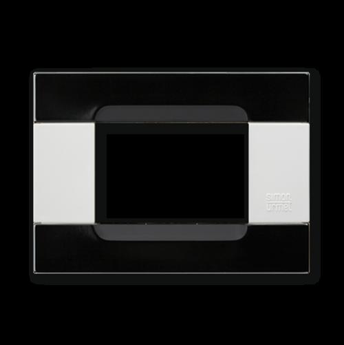 SIMON URMET - 10903.B.54 Black Universo Polychrome Metal Kadra тримодулна рамка