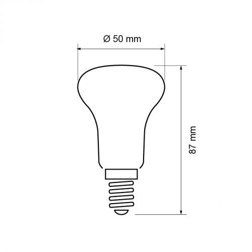 ULTRALUX - LGR5051427 - LED рефлектор R50 5W, E14, 2700K, 220V, топла светлина
