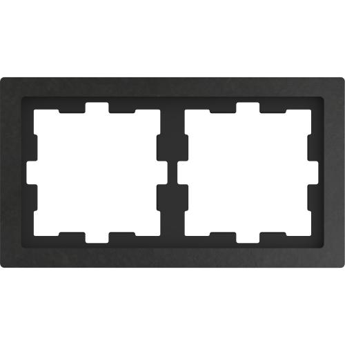 SCHNEIDER ELECTRIC - MTN4020-654 рамка двойна полиран камък D-Life glass Merten
