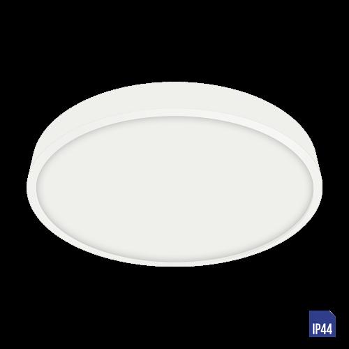 LUXERA - LED панел 18W влагозащитен IP44 външен монтаж LENYS  49036 бяло