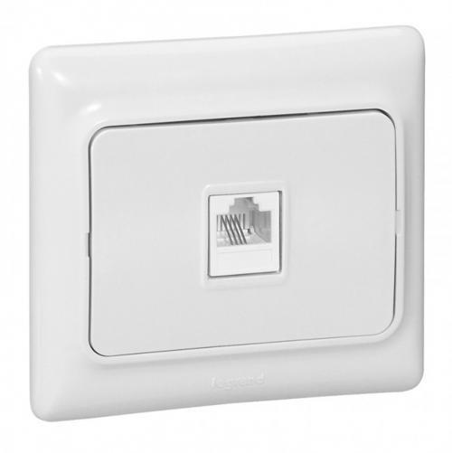 LEGRAND - 782124 Компютърна розетка RJ45 cat.5e бял