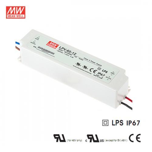 MEAN WELL - Водоустойчиво LED захранване LPV-60-12