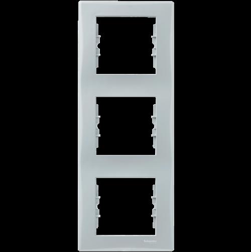 SCHNEIDER ELECTRIC - SDN5801333 декоративна рамка Sedna вертикална тройна сива