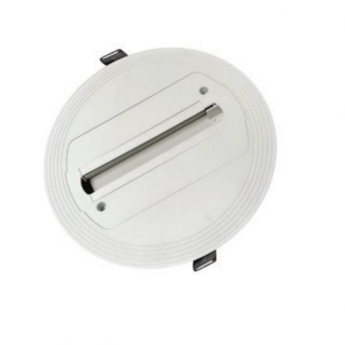ACA LIGHTING - Кръгла розетка за трифазна шина за вграждане бял RTB2WW