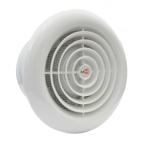 MMOTORS - Вентилатор с намалена дължина GOLD-MM100 кръг с клапа
