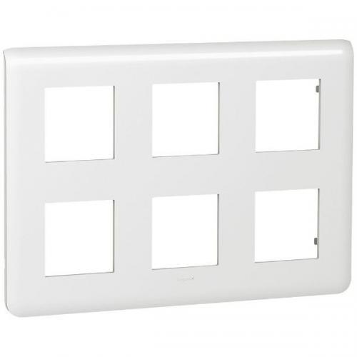 LEGRAND - 78832 Лицева рамка 2 реда 2х6 мод. НЕМСКИ СТАНДАРТ цвят бял Mosaic