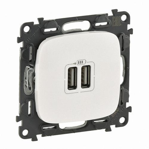 LEGRAND - 754999 Двоен USB контакт 1500мА за зареждане 5V Valena Allure перла /комплект с механизъм/