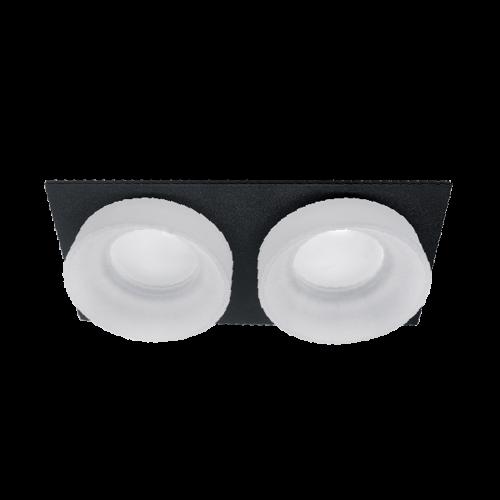 ELMARK - SA-045/2 луна за вграждане двойна правоъгълна черна/бяла 92045S2/BLFR