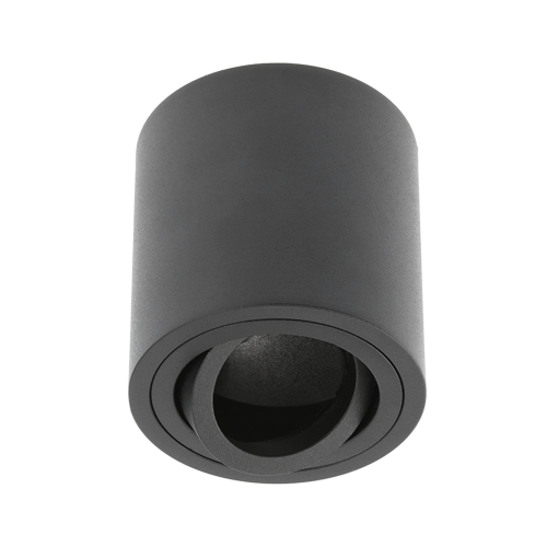 GTV Lighting - Луна за открит монтаж кръгла черна AVEIRO OS-AV8085OK1-00
