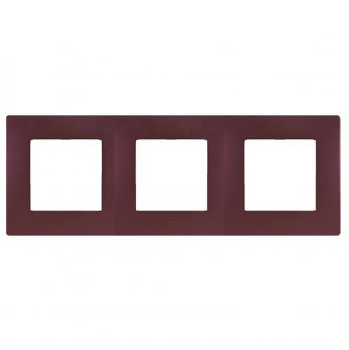 LEGRAND - Тройна рамка NILOE 397083 лилав