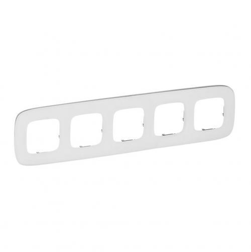 LEGRAND - Петорна рамка ALLURE 755545 бяло стъкло