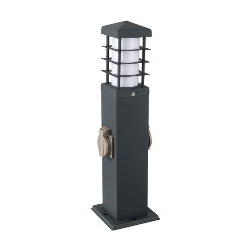 V-TAC - 2 Гнезда Градински Разклонител с лампа влагозащитен IP44 SKU: 8822 VT-1156-2