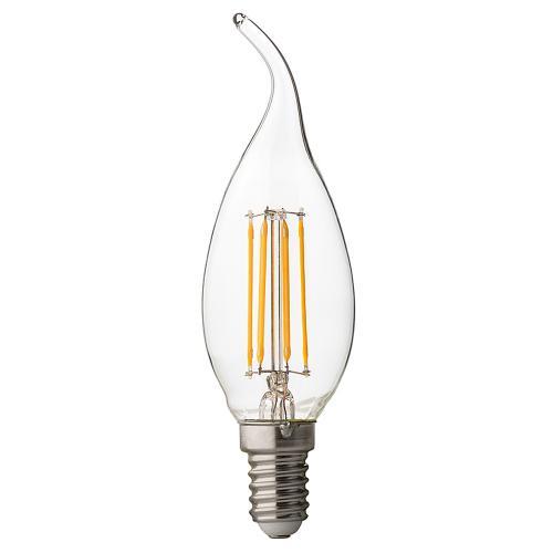 ULTRALUX - LFF41442D LED димиращ filament пламък 4W, E14, 4200K, 220V AC, неутрална светлина