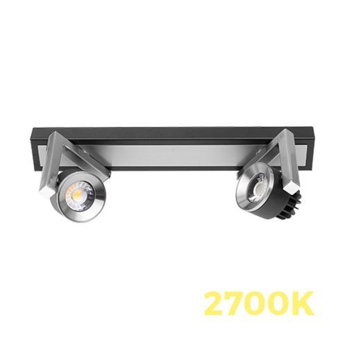 ULTRALUX - LSL1027 LED СПОТ ОСВ. ТЯЛО 2X5W, 2700K, ГРАФИТ