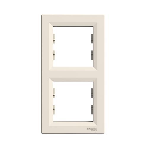 SCHNEIDER ELECTRIC - EPH5810223 Декоративна рамка вертикална двойна Asfora крем