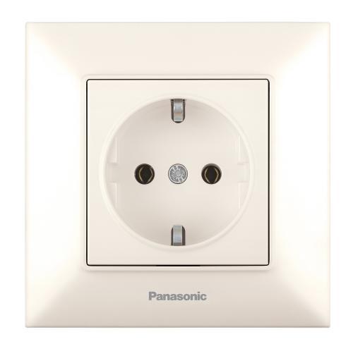 PANASONIC - Контакт шуко Panasonic Arkedia Slim крем WNTC0202-2BG