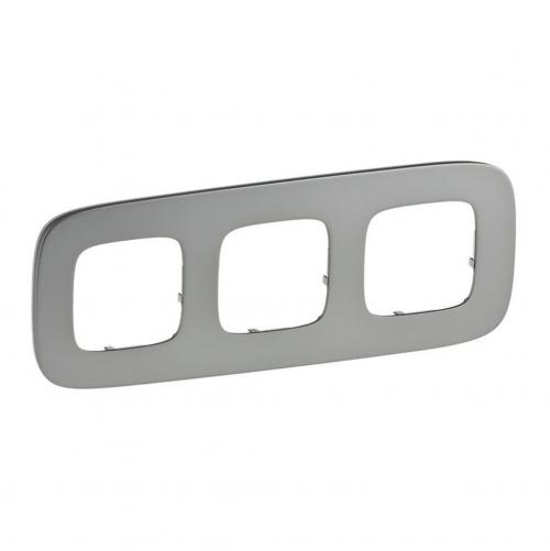 LEGRAND - Тройна рамка ALLURE 755503  светъл никел