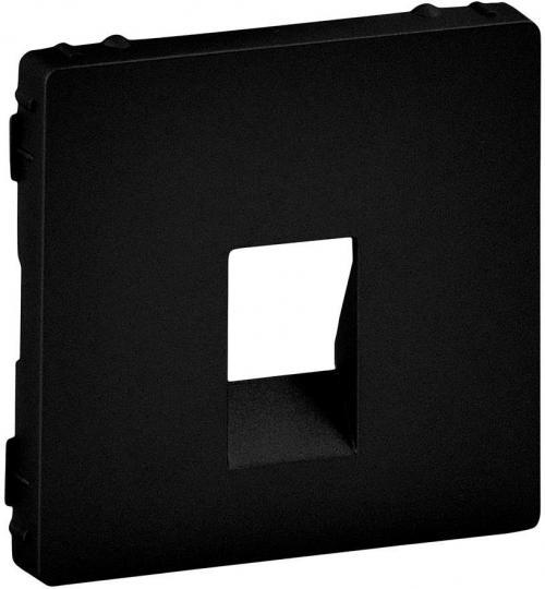 LEGRAND - Лицев панел за единична розетка за тонколони цвят Черен Valena Life 756362