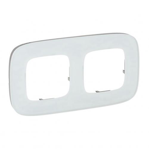 LEGRAND - Двойна рамка ALLURE 755542 бяло стъкло