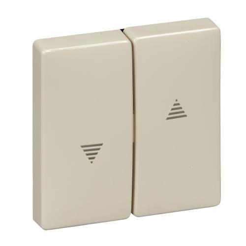 SCHNEIDER ELECTRIC - MTN411544 Лицев панел за ключ/бутон за щори крема Antique