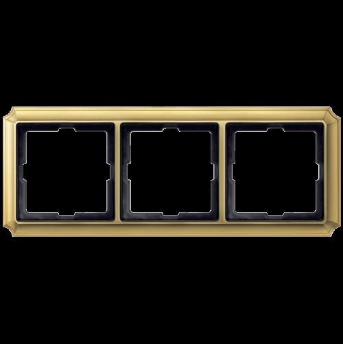 SCHNEIDER ELECTRIC - MTN483321 рамка тройна полиран месинг Antique Merten