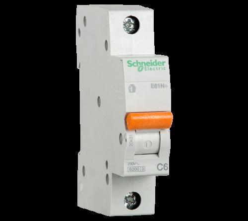 SCHNEIDER ELECTRIC - Автоматичен прекъсвач E60N+ 1P 63A крива C 6kA 20439
