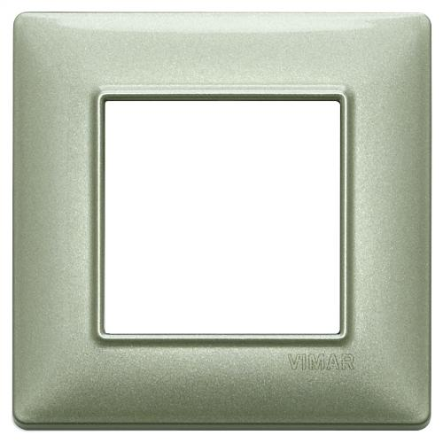 VIMAR - 14642.72 - Plate 2M metal metallized green