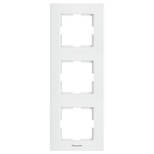 PANASONIC - Тройна рамка вертикална бяла WKTF08132WH‐EU1 Panasonic Kare