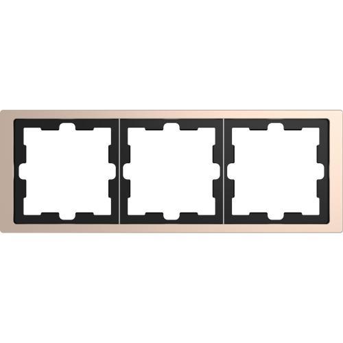 SCHNEIDER ELECTRIC - MTN4030-6551 рамка тройна метална шампанско D-Life Merten