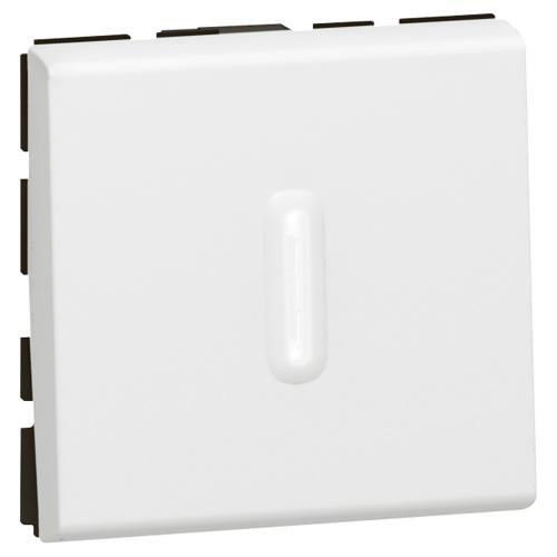 LEGRAND - Бутон девиаторен с индикация 2 модула  Mosaic бял 77042