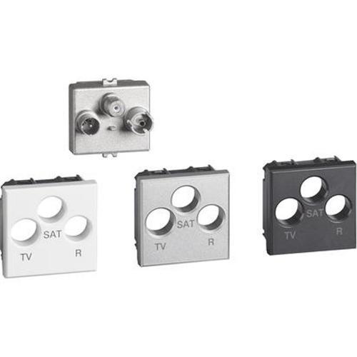 BTICINO - H4210M2D Розетка TV/R/SAT тройна проходна Axolute