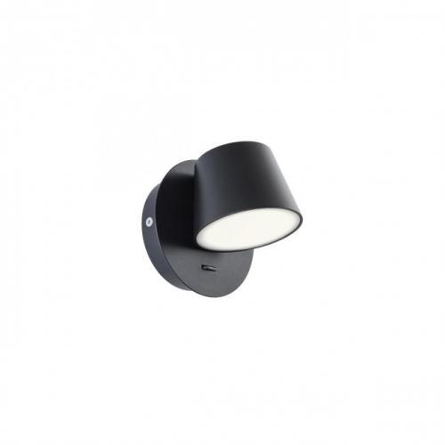 REDO GROUP - Аплик SHAKER 01-1738  AP LED 6W IP20 SAND BLACK
