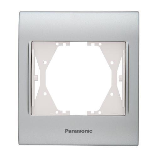 PANASONIC - Единична рамка Инокс Мат WBTF0801-5IN