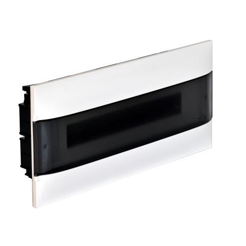 LEGRAND - Табло за скрит монтаж 18 мод. Practibox S с прозрачна врата и Н и РЕ клеми 137156