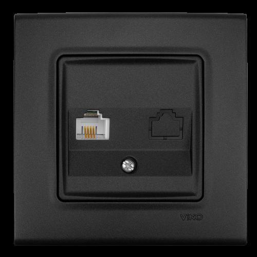 VIKO - Телефонна розетка CAT3 LINNERA LIFE черно 90404013-BG
