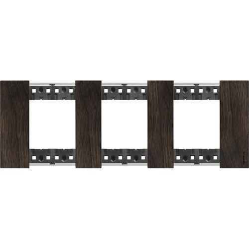 BTICINO - Рамка 3x2 мод. немски стандарт цвят Орех Living Now Bticino KA4802M3LG