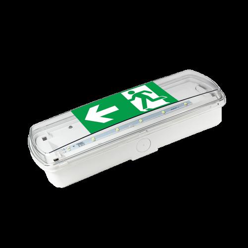COmmel - Аварийно осветително тяло LED 3.3W 150lm 3h 6000K IP65 открит монтаж 346-202